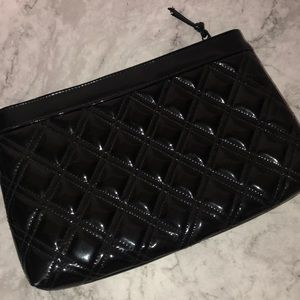 Amanda Smith vintage quilted 2 compartment clutch